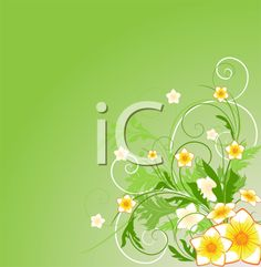 iCLIPART - Royalty Free Clipart Image of a Flower Background