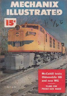 July 1950 Mechanix Illustrated Magazine Union Pacific Railroad Locomotive
