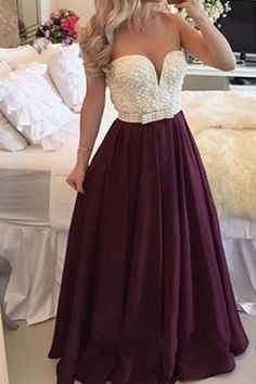 Burgundy Prom Dress , Long Plus Size Prom Dress, With Pearls Burgundy Evening Gowns, Burgundy Prom Gowns, Burgundy Woman Dress