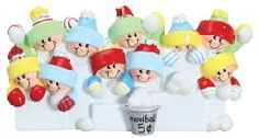 4228 Snowballs Family of 10 Hand Personalized Christmas Ornament *** Check out the image by visiting the affiliate link Amazon.com on image.