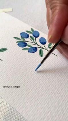 Watercolor Art Lessons, Watercolor Paintings, Diy Canvas Art, Art Tutorials, Diy Art, Art Drawings, Bullet Journal, Journal Art, Kawaii Stationery