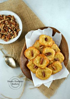 Pecan Cheese Wafers - Simple, make ahead, and elegant.
