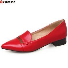 20.3 48% de réduction ASUMER noir rouge jaune bout pointu peu profonde  simples occasionnels chaussures femme talon carré de mode femmes à faible  talons ... e61a0fde7b07