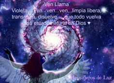 oración transmutadora de la llama violeta