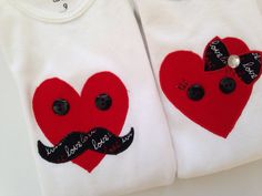 Boy Girl Twins Onesie  Valentine Onesies for Twins  by SweetTootsy, $40.00