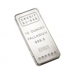 Suisse 10 Ounce Palladium Bar
