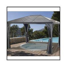 Outdoor Patio Gazebo Canopy Aluminum Frame Metal Hardtop 10x10 Roof Metal  Patio   Gazebos