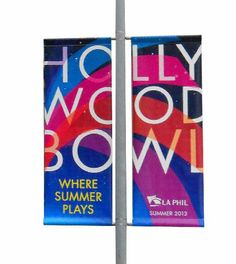 LA Phil Hollywood Bowl Street Pole Banner Memorabilia to own for your own home/collection.