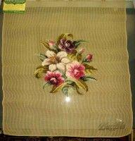 Gallery.ru / Фото #186 - СОЗЕРЦАЕМ КРАСОТУ-64 - GAVRUCHA Napkins, Tableware, Flowers, Color, Cross Stitch, Dinnerware, Towels, Dinner Napkins, Tablewares
