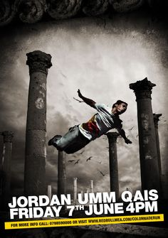 Wow, colonnaded run with free runners in Um Qais! Ancient monuments boring? No way!  News | In2Jordan |