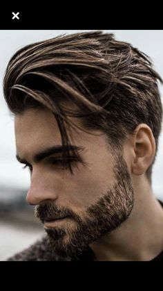 Short Sides with Long Textured Top and Beard - Popular Men's Hairstyles: Cool Haircuts For Men - Best Guys Haircut Styles Top Hairstyles For Men, Cool Haircuts, Hairstyles Haircuts, Popular Hairstyles, Mens Hairstyles Medium Undercut, Mens Mid Length Hairstyles, Pixie Haircuts, Mens Modern Hairstyles, 2018 Haircuts