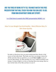 Healthy and Fast Way to Lose Weight Yeah baby