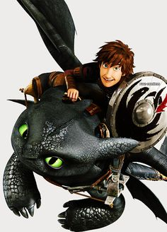 Hiccup and Toothless from Dreamworks Dragons Race to the Edge