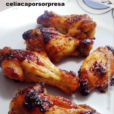 Alitas de pollo con miel y mostaza al horno