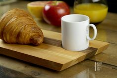 coffee and croissant - wood you care for