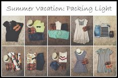 how to pack light for a summer vacation!