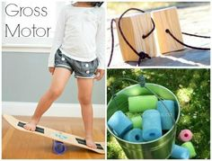 gross motor toys to make for kids. I love these ideas. I have a couple in mind that I will make for Christmas gifts!