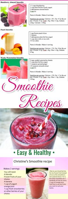 Easy Smoothies -  Try These Easy Smoothie Recipes - Great Ninja Blender Smoothies
