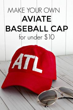 7fb168b0529 Aviate Baseball Caps are all the trend. Make your own for under  10! DIY