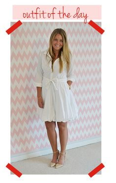 We're skirting the rules and wearing white after Labor Day! #OOTD