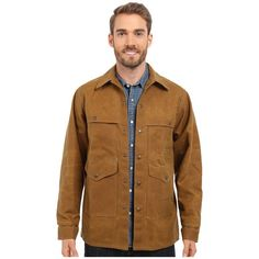 Filson Tin Cruiser -Extra Long (Tan) Men's Coat (17.970 RUB) ❤ liked on Polyvore featuring men's fashion, men's clothing, men's apparel, mens clothing and slim fit mens clothing