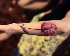 Tatuagem da Delicada Tulipa 6