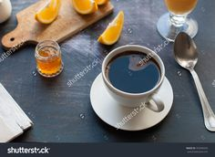stock-photo-coffee-with-orange-juice-orange-slice-and-marmalade-on-a-breakfast-table-with-newspaper-353940320.jpg (1500×1096)
