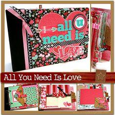scrapscription.com: valentine's day scrapbook mini album kits with instructions (via scrapclubs.com)