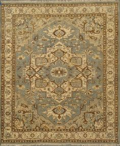 This classic Heriz is hand knotted of wool in India. The perfect rug to create a laid back and inviting ambiance, yet it is still sophisticated in presence. Lakeside Cottage, Classic Rugs, Traditional Rugs, Knots, India, Beige, Wool, Create, House