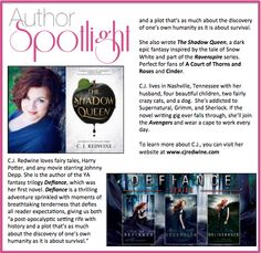 Check out this week's #AuthorSpotlight: #CJRedwine author of the #defiancetrilogy #theshadowqueen