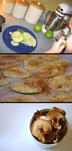 Try this recipe for Homemade Apple Chips for a healthy afternoon snack or dessert Fruit Recipes, Apple Recipes, Snack Recipes, Healthy Recipes, Apple Snacks, Easy Recipes, Recipies, Bolo Original, Comidas Light