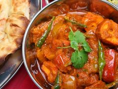Chicken do pyaza is a spicy chicken curry.