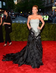 Blake Lively: Blake Lively wore Gucci Première to this years Met Gala, and in true Blake form, she stuck with her signature formfitting bodice-meets-sweeping-train silhouette.