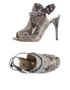 Sueded Snakeskin Sandal