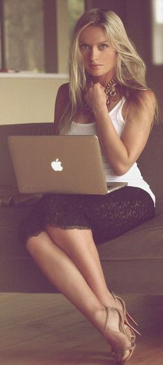 Yep...that's what I usually wear whilst messing with my macbook.  Cute outfit, though.