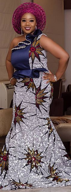 These are the most elegant ankara gown styles there are today, every lady who loves ankara gowns should see these ankara gown styles of 2019 Ankara Long Gown Styles, Ankara Styles For Women, Ankara Gowns, African Dresses For Women, Ankara Dress, African Attire, African Wear, African Fashion Dresses, Ankara Blouse