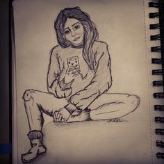 #girl #selfie #pen #sketch #doodle #illustration