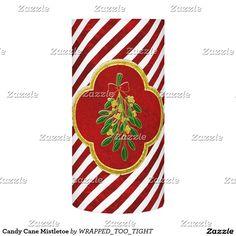 Candy Cane Mistletoe Flameless Candle