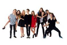 British youtubers Marcus, Zoe, Louise, Joe, Niomi, Jim, Tanya, Alfie, Caspar