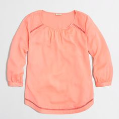 Factory three-quarter sleeve blouse with cutout details : Blouses & Tees   J.Crew Factory