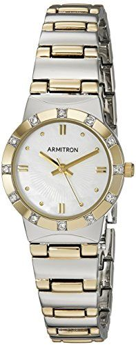 Armitron Womens 755361MPTT Swarovski Crystal Accented TwoTone Bracelet Watch -- Learn more by visiting the image link.Note:It is affiliate link to Amazon.