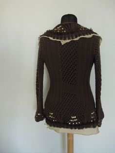 Upcycled Clothing / Brown and Gold Sequin by GarageCoutureClothes, $58.00
