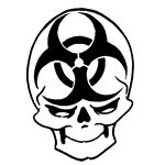 i will have this as a tattoo...BioHazard Skull