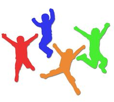Jump Party Tags Jumping Kids Die Cuts Trampoline by WhimseyDimples