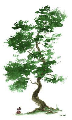 Title:Little Zen Tree 365Artist:Sean SealMedium:Painting - Watercolor On Paper