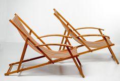 KiBoFa - 2x luxe strandstoelen met armleuningen