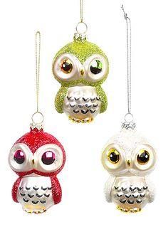 Three Wise Owls Ornament Set | PLASTICLAND