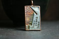 home sweet home simple truths pendant by TesoriTrovati on Etsy