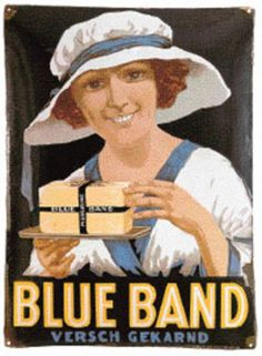 Blue Band advertentie #advertentie #vintage #old #poster #illustration