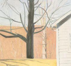 Corner of Bakery and Tree, Lois Dodd